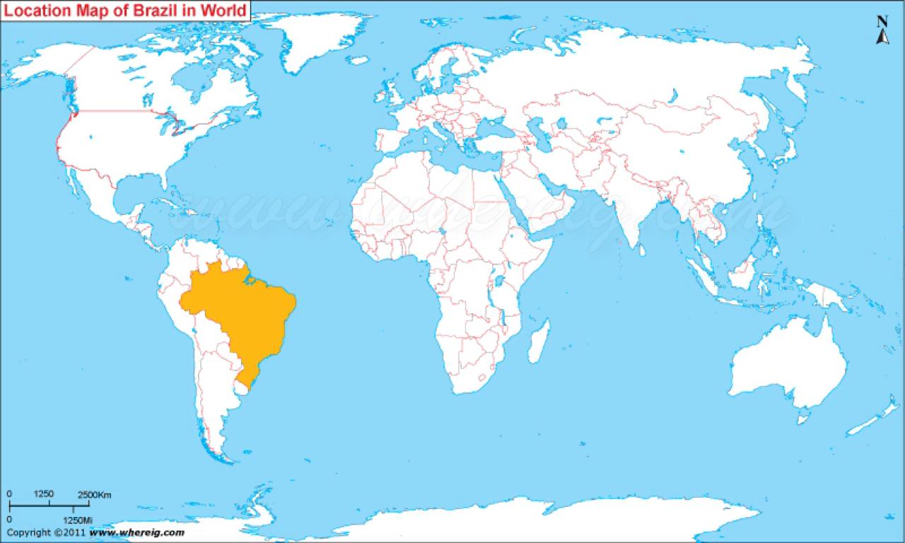 Brazil location on world map location of brazil on world map location of brazil on world map gumiabroncs Image collections