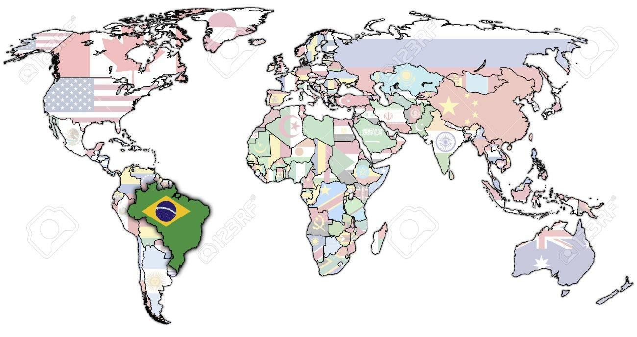 Attractive Brazil In The World Map