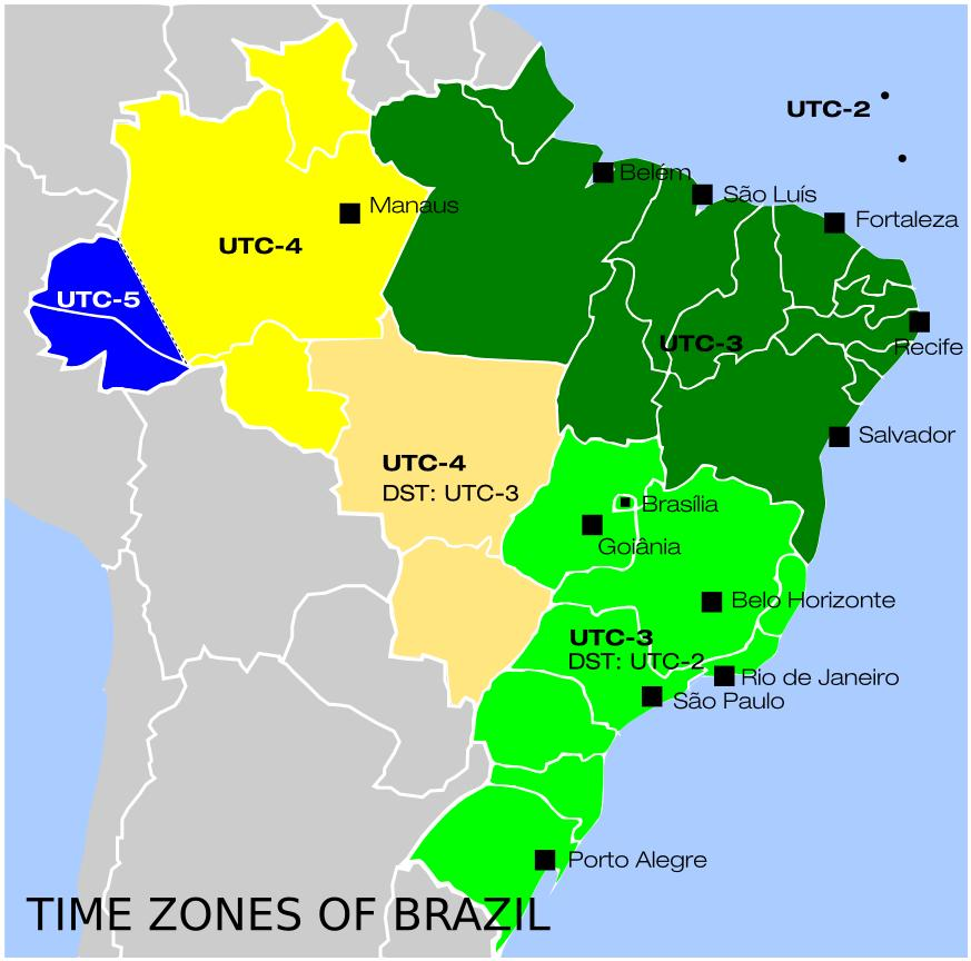 Map Of South America Time Zones.Time Zones In Brazil Map Map Of Brazil Time Zones South America