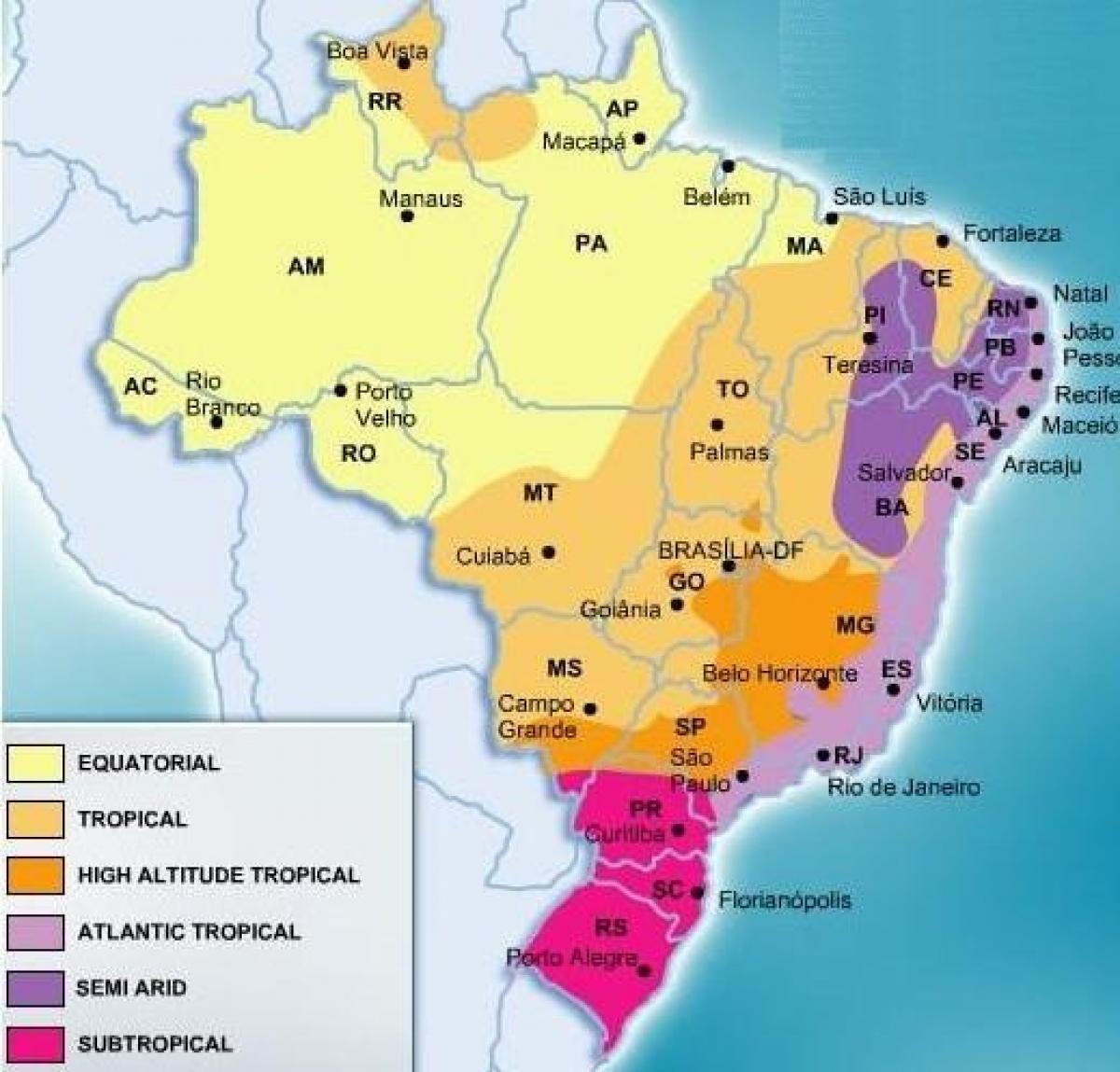 Brazil weather map   Weather map Brazil (South America   Americas)