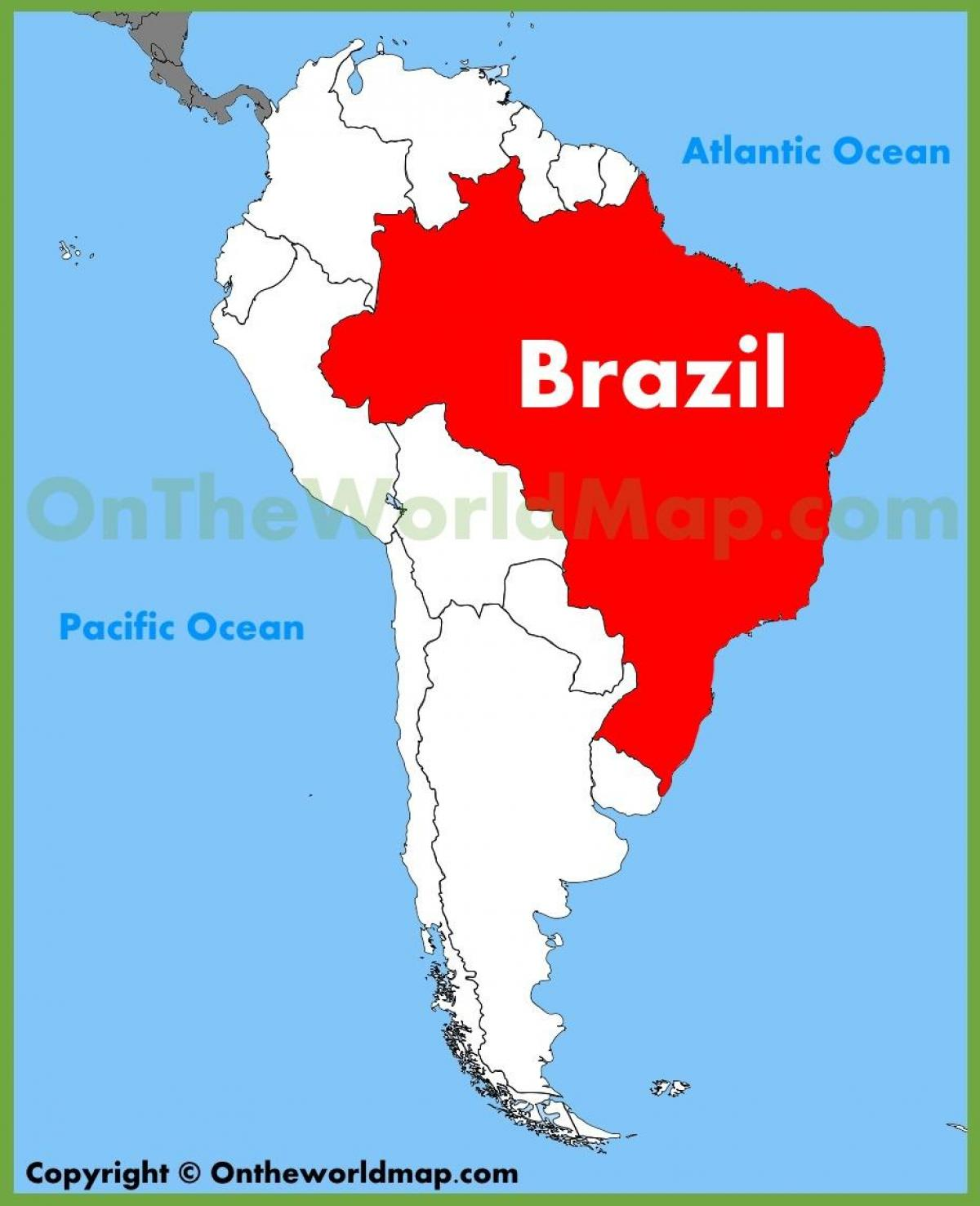 Map Brazil - Map with Brazil (South America - Americas)