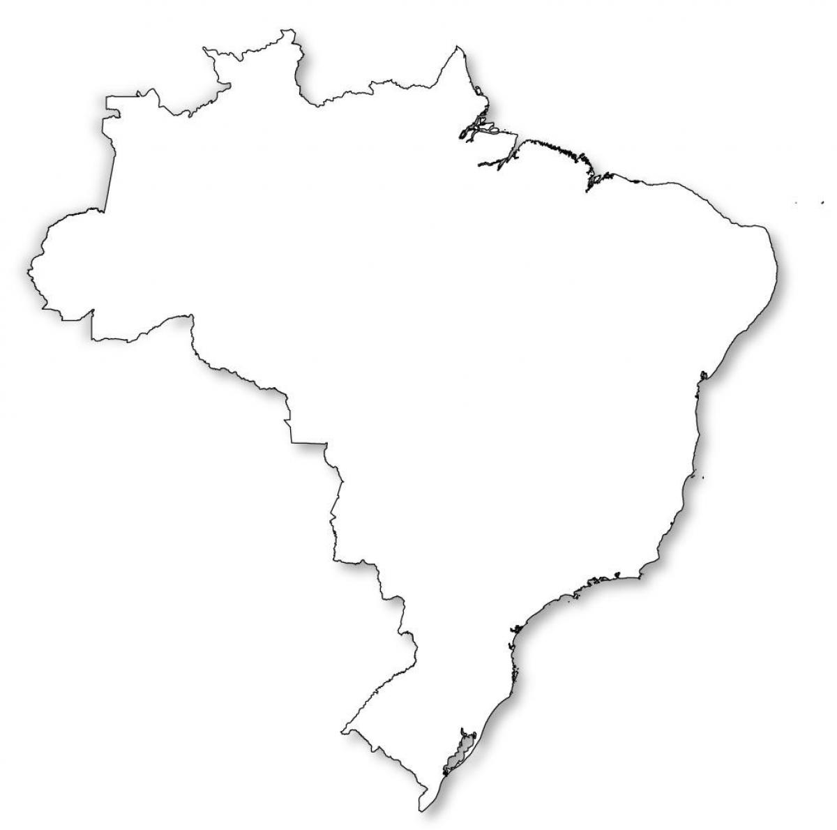 Picture of: Outline Map Of Brazil Map Outline Of Brazil South America Americas