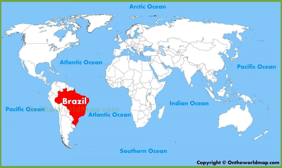 map of world Brazil
