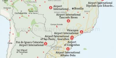 Airports in Brazil map
