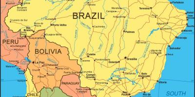Cities of Brazil map