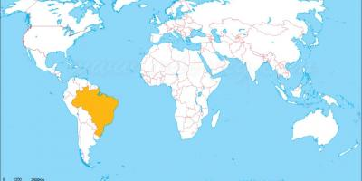 Location of Brazil on world map