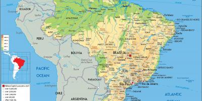 Brazil map Maps Brazil South America Americas