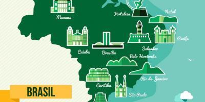 Sao Paulo On World Map