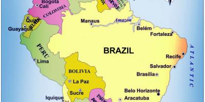 Map of the Brazil