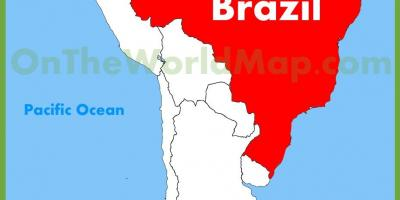 Map with Brazil