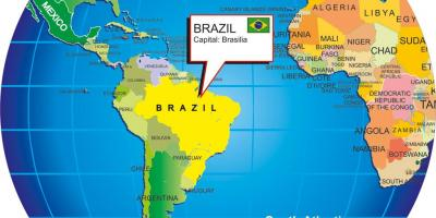 World map of brazil world map with brazil south america americas gumiabroncs Images